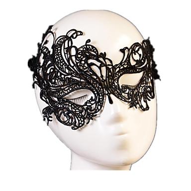 Απόκριες Μάσκα Ανδρικά Γυναικεία Halloween Γιορτές / Διακοπές Κοστούμια Halloween Μαύρο Μονόχρωμο Δαντέλα