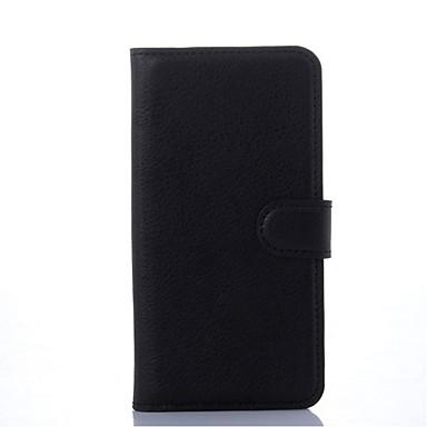 Недорогие Чехлы и кейсы для Galaxy S6 Edge-Кейс для Назначение SSamsung Galaxy S6 edge Кошелек / Бумажник для карт / со стендом Чехол Сплошной цвет Кожа PU