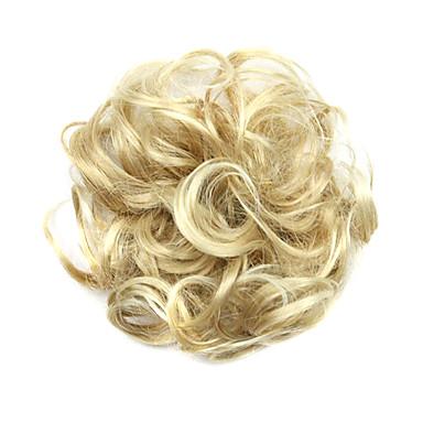Peruci Sintetice / Meșe Buclat / Clasic Stil Frizură în Straturi Perucă înălbitor Blonde Păr Sintetic Pentru femei updo Perucă Scurt Perucă Cosplay