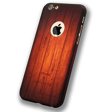Mert iPhone 6 tok tokok Other Teljes védelem Case Fa mintázat Puha PC mert Apple