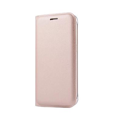 용 Samsung Galaxy S7 Edge 카드 홀더 / 플립 케이스 풀 바디 케이스 단색 하드 인조 가죽 Samsung S7 edge / S7 / S6 edge plus / S6 edge / S6