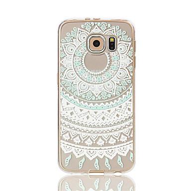 갤럭시 S7 가장자리 해바라기 패턴 TPU 소재 휴대 전화 케이스 / S7 / S6 가장자리 / S6