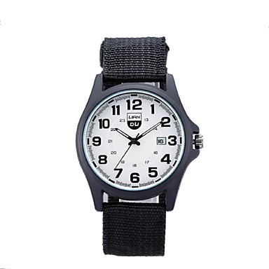 남성 패션 시계 캐쥬얼 시계 스위스 디자이너 석영 섬유 밴드 블랙 브라운 그린