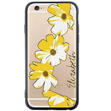케이스 커버 iPhone SE/5s/5 Apple 용 뒷면 커버 꽃장식 소프트 TPU 용