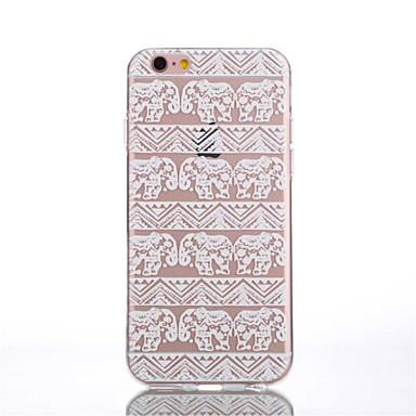 케이스 커버 용 iPhone 6 Plus iPhone 6 뒷면 커버 투명 패턴 코끼리 소프트 TPU iPhone 6s Plus iPhone 6 Plus iPhone 6s iPhone 6 용