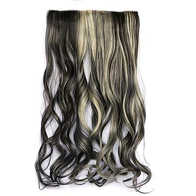 fekete és arany hossza 60cm szintetikus öt lapot és haj, hosszú göndör haj paróka három (színes 4ah613)