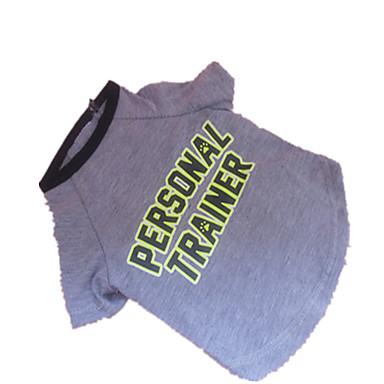 Cachorro Camiseta Roupas para Cães Cinzento Ocasiões Especiais Para animais de estimação