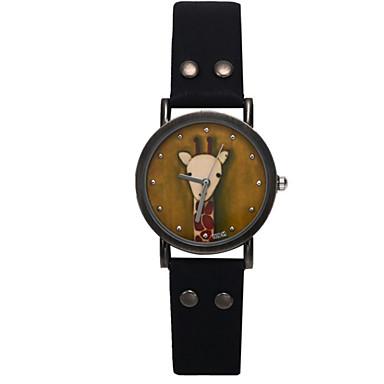 여성용 패션 시계 석영 캐쥬얼 시계 PU 밴드 블랙 블루 브라운 그레이