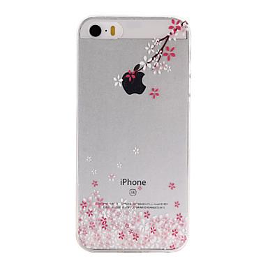 케이스 제품 iPhone SE/5s/5 Apple 아이폰5케이스 울트라 씬 투명 패턴 뒷면 커버 꽃장식 소프트 TPU 용 iPhone SE/5s iPhone 5