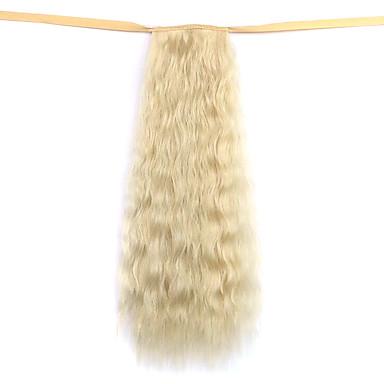 Felcsatolható Hullámos Copfok Beköt Hajdarab Póthaj 20 hüvelyk Blonde