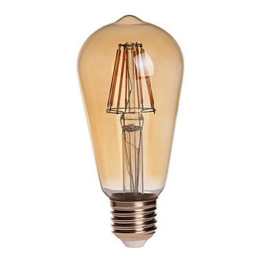 750 lm E26/E27 LED gömbbúrás izzók ST64 8 led COB Tompítható Vízálló Dekoratív Meleg fehér AC 110-130V