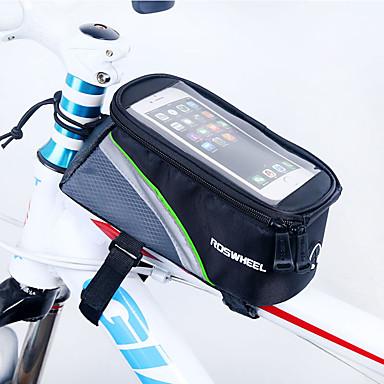 ROSWHEEL Váztáska Cell Phone Bag 4.8 hüvelyk Párásodás gátló Vízálló cipzár Viselhető Érintőképernyő Ütésálló Kerékpározás mert iPhone