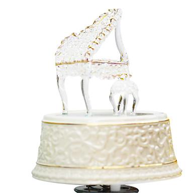 선물 도자기 흰색 창조적 인 낭만적 인 음악 상자