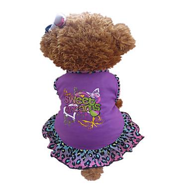 Hond Jurken Hondenkleding Hart dier Paars Katoen Kostuum Voor huisdieren