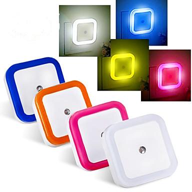 0.5 W 블루 / 레드 / 옐로우 / 네츄럴 화이트 AC 센서 / 방수 나이트 라이트 AC 220-240 V 플라스틱