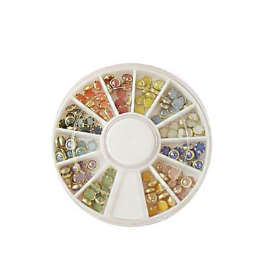 러블리 / 웨딩-핑거-네일 쥬얼리 / 데코레이션 세트 / 다른 데코레이션-플라스틱 / 금속 / 이 외-12 models /box-Jewelry diameter of about 0.2cm