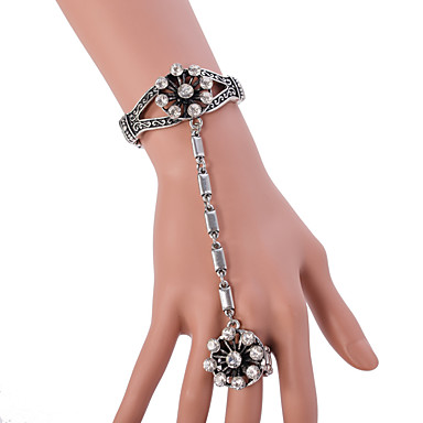 Női Lánc & láncszem karkötők Elbűvölő karkötők Gyűrű karkötők Ötvözet Ékszerek Kompatibilitás Esküvő Parti Napi