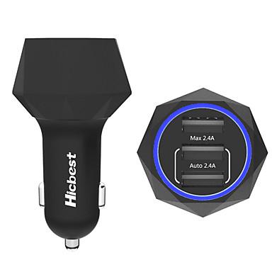 아이폰 / 아이 패드 / 삼성 / 화웨이에 대한 poweriq 24w 지능형 3 포트 USB 차 충전기 5V의 4.8A