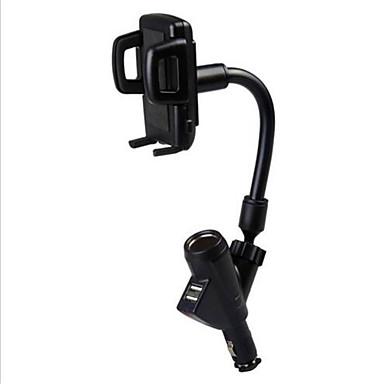 Dual USB autós töltő mobiltelefon tartó autós szivargyújtó