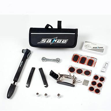 sahoo® bicikli kerékpár kerékpár defekt gumiabroncs gumiabroncs javító multifunkcionális szerszám készlet szett& minipumpa táska