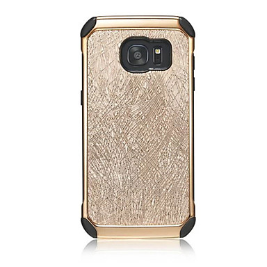 용 Samsung Galaxy S7 Edge 충격방지 / 도금 케이스 풀 바디 케이스 단색 하드 인조 가죽 S7 edge / S7