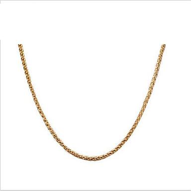 Női Nyakláncok Titanium Acél Arannyal bevont 18K arany Divat Személyre szabott Ékszerek Kompatibilitás Napi Hétköznapi