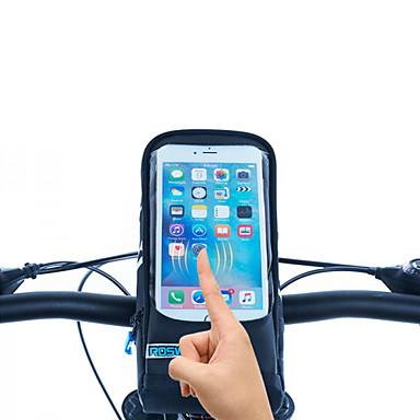ROSWHEEL 자전거 핸들바 백 휴대 전화 가방 5.7 인치 방수 지퍼 착용 가능한 방습 충격방지 터치 스크린 싸이클링 용 Iphone 8 Plus / 7 Plus / 6S Plus / 6 Plus 아이폰 엑스 Samsung Galaxy S8