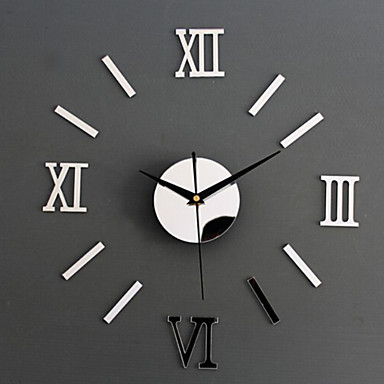 Acrylic Wall Stickers Home Decoration Wall Clock Watch Mirror Mirror living Room Wall Clock