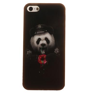 Mert iPhone 5 tok tokok Minta Hátlap Case Állat Puha TPU mert Apple iPhone SE/5s iPhone 5