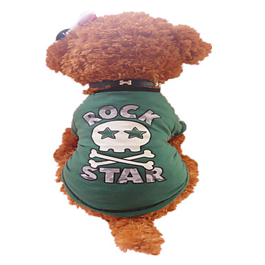 Hond T-shirt Hondenkleding Ademend Letter & Nummer Groen Kostuum Voor huisdieren
