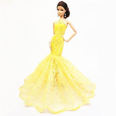 파티/이브닝 드레스 에 대한 바비 인형 레이스 Organza 드레스 에 대한 여자의 인형 장난감