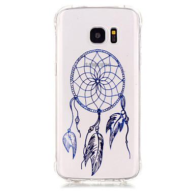 Kompatibilitás Samsung Galaxy S7 Edge tokok Ütésálló Galvanizálás Átlátszó Hátlap Case Álomfogó Puha Hőre lágyuló poliuretán mert Samsung