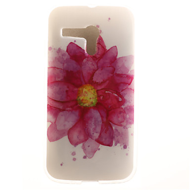 용 모토로라 케이스 패턴 케이스 뒷면 커버 케이스 꽃장식 소프트 TPU Motorola Moto G