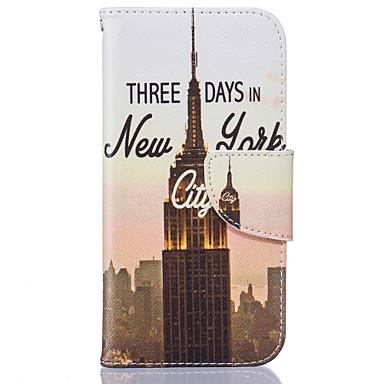 Mert iPhone 6 tok / iPhone 6 Plus tok Kártyatartó / Flip Case Teljes védelem Case Kilátás Puha Műbőr AppleiPhone 6s Plus/6 Plus / iPhone