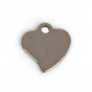 Amulettek Fém Heart Shape A Picture 50Pcs