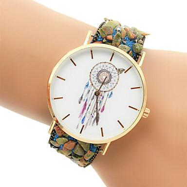 여성용 팔찌 시계 패션 시계 석영 캐쥬얼 시계 Plastic 밴드 블랙 화이트 블루 레드 퍼플