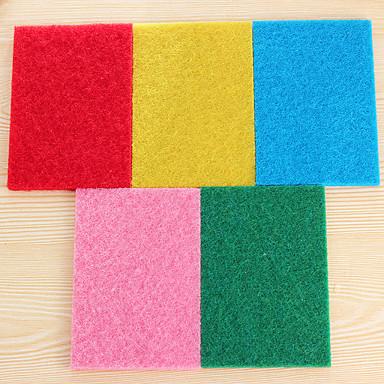 (Színes random) 10 db / beállított szín nagyon hatékony súroló kendő tisztító konyha rongyok erős fertőtlenítő
