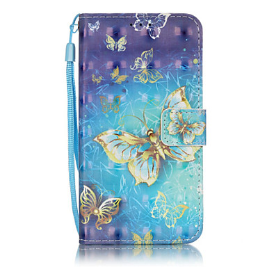 Case For Samsung Galaxy Samsung Galaxy Case Card Holder Wallet with Stand Flip Full Body Cases Butterfly Soft PU Leather for J5 (2016) J5