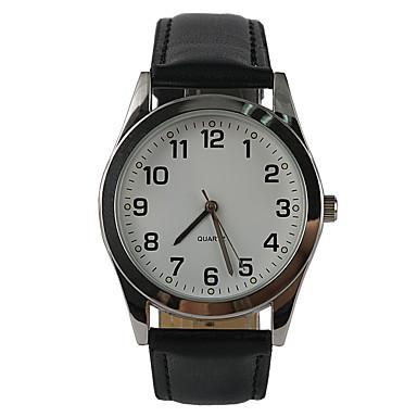 Homens Relógio de Pulso Quartzo Relógio Casual PU Banda Analógico Amuleto Casual Fashion Preta - Preto