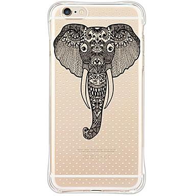 백 방수 / 충격방지 / 비스크 코끼리 TPU 소프트Back Shockproof/Transparent Elephant TPU Soft Case Cover For Apple iPhone 6s Plus/6 Plus/iPhone 6s/6/iPhone