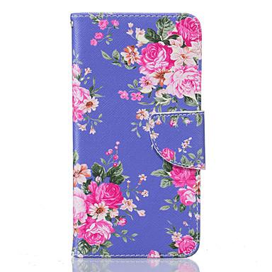 Mert LG tok Kártyatartó / Pénztárca / Állvánnyal / Flip / Minta Case Teljes védelem Case Virág Kemény Műbőr LG LG K10 / LG K8 / LG K7