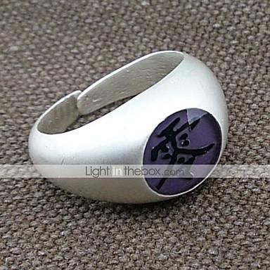 보석류 에서 영감을 받다 나루토 Itachi Uchiha 에니메이션 코스프레 악세서리 반지 합금 남성용 여성용 뜨거운
