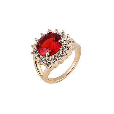 Gyűrűk Sexy / Régies (Vintage) Esküvő / Napi Ékszerek Női Vallomás gyűrűk 1db,8 / 9 / 8½ Piros / Kék / Zöld