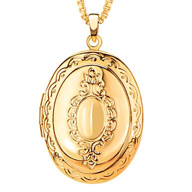 európai stílusú medált 18k arany / platina aranyozott hozott szilárd képek nyaklánc&medál női / férfi ékszerek nagykereskedelmi p30037
