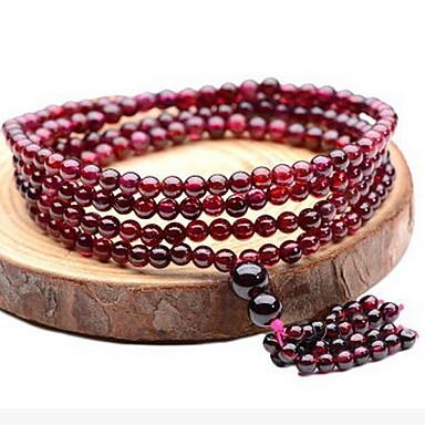 economico Bracciali-Per donna Braccialetto con perline Regolabile Gemme Gioielli braccialetto Rosso Per Quotidiano Casual