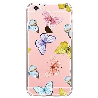 Case Kompatibilitás Apple iPhone 6 iPhone 6 Plus Ultra-vékeny Minta Fekete tok Pillangó Puha TPU mert iPhone 6s Plus iPhone 6s iPhone 6