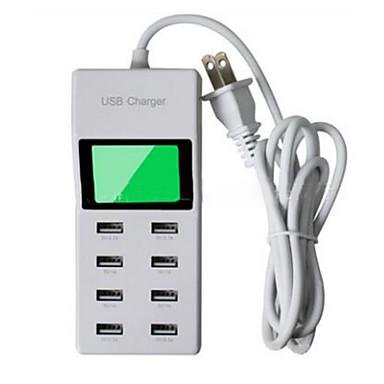 US dugasz Telefon USB töltő Multi port cm Outlets 8 USB port 2.1A 2A 1A 0.5A AC 100V-240V