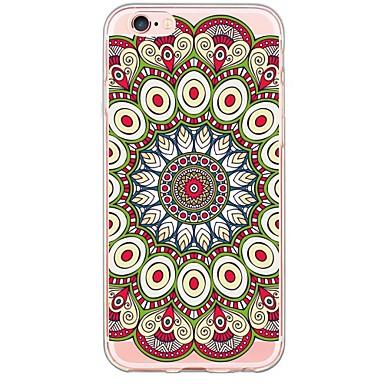 용 아이폰6케이스 / 아이폰6플러스 케이스 울트라 씬 / 패턴 케이스 뒷면 커버 케이스 만다라 소프트 TPU Apple iPhone 6s Plus/6 Plus / iPhone 6s/6 / iPhone SE/5s/5