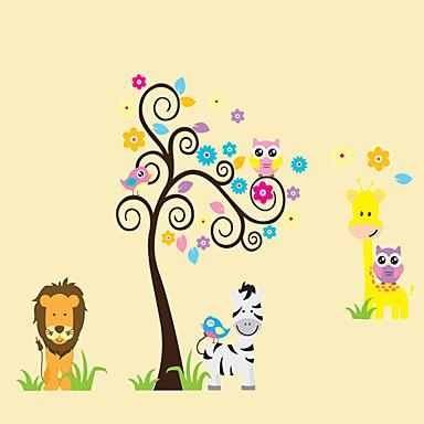 동물 정물 패션 꽃 만화 Leisure 보타니칼 벽 스티커 플레인 월스티커 데코레이티브 월 스티커, 비닐 홈 장식 벽 데칼 벽