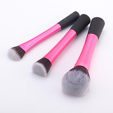 3adet Makyaj fırçaları Profesyonel Fırça Setleri Sentetik Saç Orta Fırça / Küçük Fırça